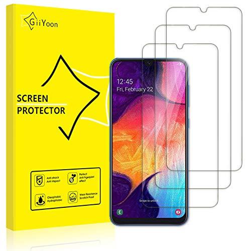 GiiYoon-3 Piezas Protector de Pantalla para Samsung Galaxy M30/A50/A30/A20/A50s/A30s/M30s/M21/M31 Cristal Templado,[Sin Burbujas] [Alta Definicion] [9H Dureza] Vidrio Templado HD Protector Pantalla