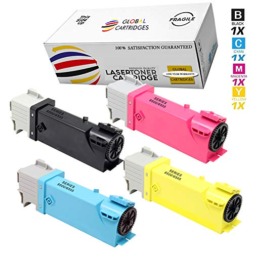 Global Cartridges Compatible Replacement Toner Cartridges Set for Xerox 6500 Series Printers /106R01597 106R01594 106R01595 106R01596 (Black,Cyan,Magenta,Yellow)