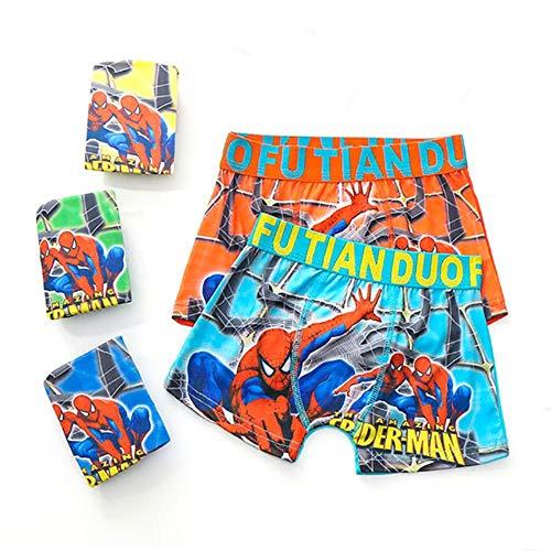 QPM 1 Stück Jungen Boxershorts Kinder Unterwäsche Baby Unterhose Cartoon Spiderman Weiche Kinder Höschen 3–11 Jahre, zufällige Farbe 1 Stück, 3–5 Jahre