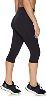 Rockwear Activewear Women's 3/4 Logo Tight from Size 4-18 for 3/4 Length High Bottoms Leggings + Yoga Pants+ Yoga Tights