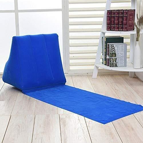Picknickdecke Aufblasbare Strandliege Mat Kissen PVC Soft Leisure Chair Sitz for Camping im Freien (Color : Blau)