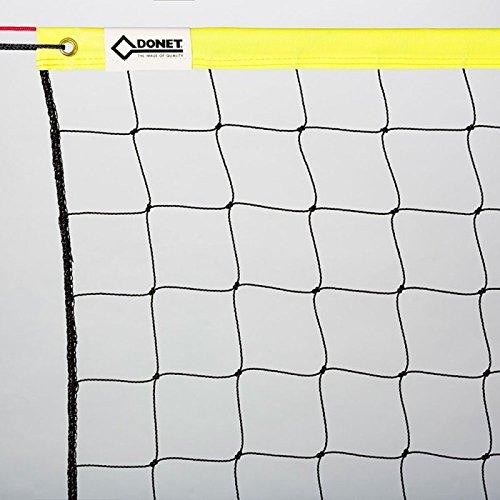 DONET Beach-Volleyball-Netz, Training & Freizeit 8,5 x 1,0 m, Oberkante PVC-Einfassung gelb