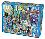 Cobble Hill 1000 Piece Puzzle - Blue - Sample Poster Included