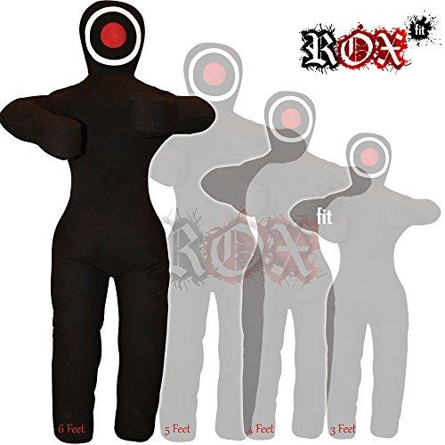 ROX Fit - Bolsa de entrenamiento para JiuJitsu (3 pies, 4 pies, 5 pies, 6 pies (sin relleno)