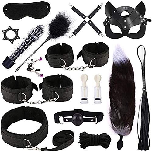 Toy XFFBD Yoga Equipment Starter Set Plush Yoga Long Leather Sē-x Set Ǎdǔlt Séx Bọndạgé Set Best Gift for Cöuples Wöman Ś-M Cosplay Novelty Sweet (Color : Black)