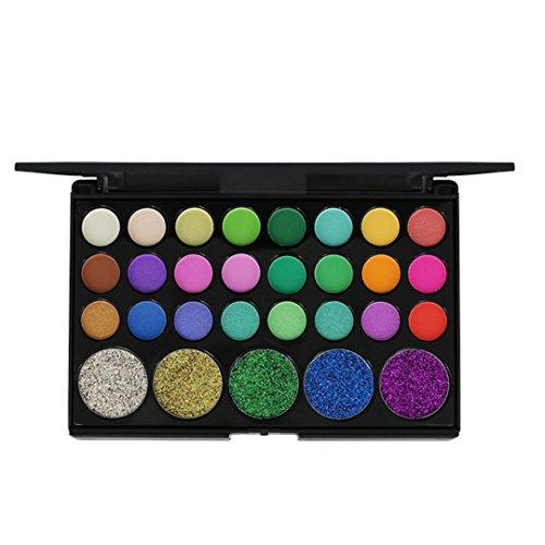 29 couleurs Makeup Shimmer Glitter Poudre ombre à paupières Matt Eyeshadow Brush Set de maquillage,Waterproof,Fards à paupières,Professionnel Cosmétiqu Paillettes Palette (110g, A)