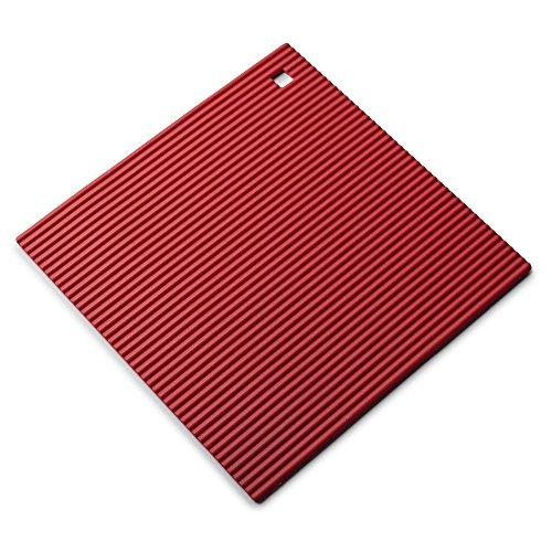 Zeal Coque en Silicone résistant à la Chaleur Dessous de Plat, antidérapant, Silicone, Red, 22 cm