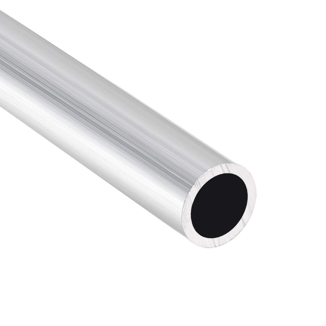 6063 Aluminum Round Tube 300mm Length 17mm OD 10mm Inner Dia Seamless Tubing