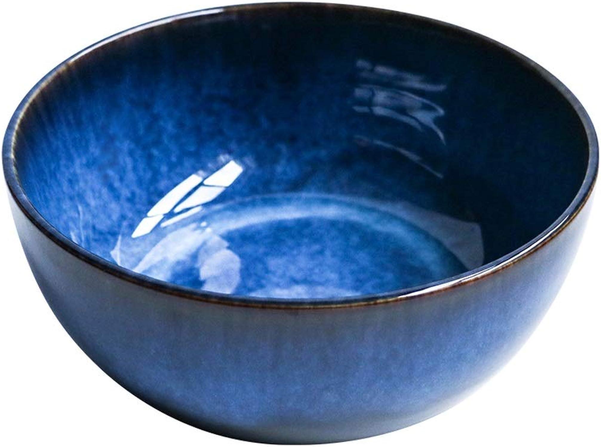 XuQinQin Ménage japonais grand bol bol à salade créatif grand bol en céramique bol à soupe bol bassin bol de vaisselle rétro bol ménage bol