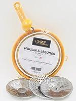 Moulin à légumes made in Italy. 3 filtres différents en inox pour adapter la consistance de la purée. Diamètre 24 cm Très résistant.