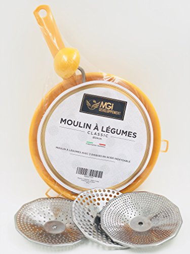 MGI DEVELOPPEMENT Moulin à légumes Made in Italy 24 cm...
