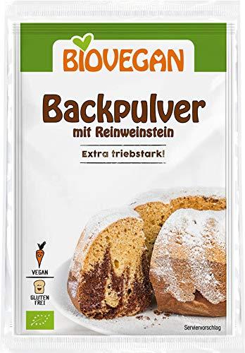 Biovegan Bio Bio Backpulver mit Reinweinstein (2 x 68 gr)