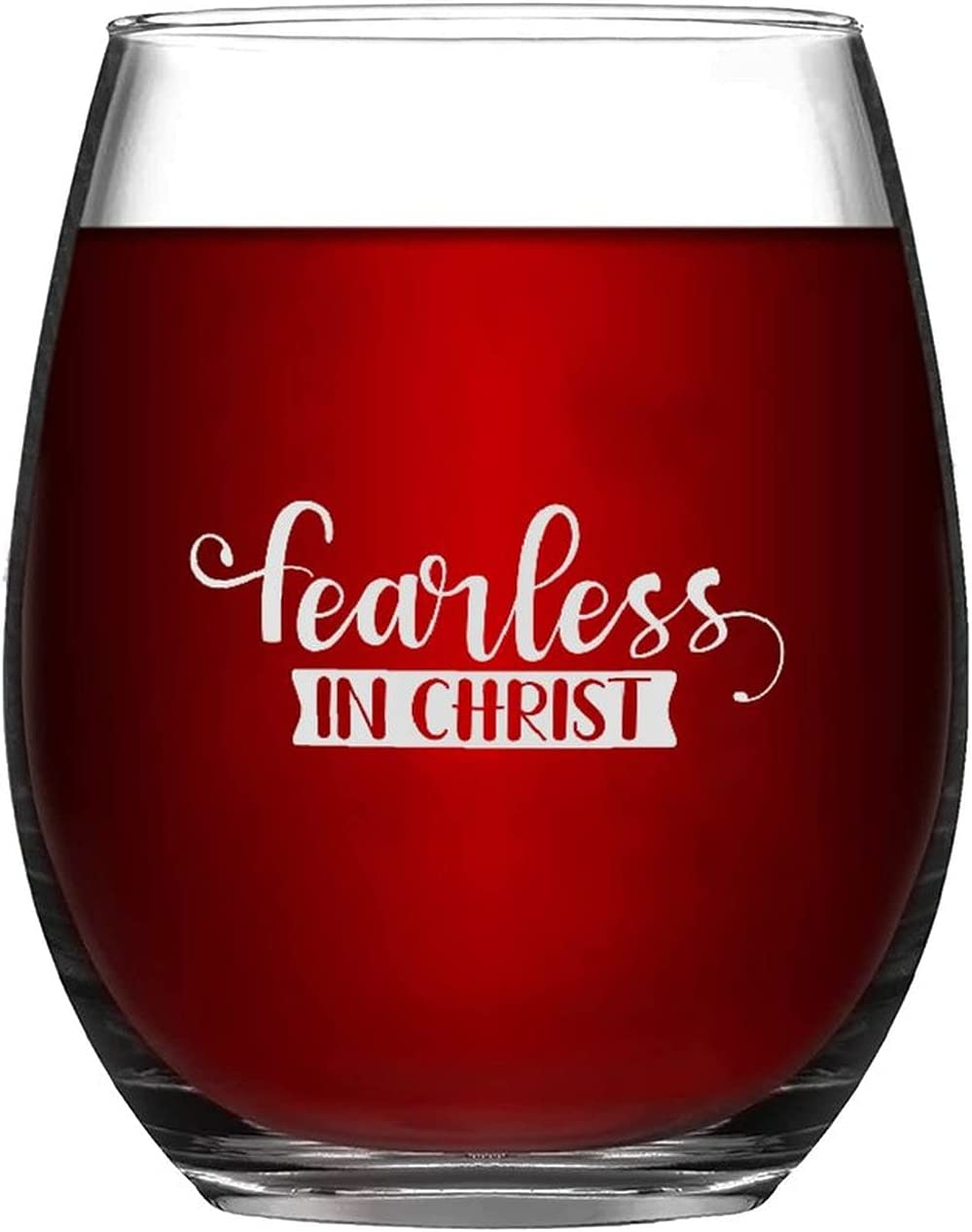 Stemless Wine Glasses Fearless In Christ Glass Go Engraved Selling and selling Laser High quality new