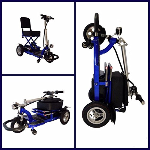 Enhance Mobility Triaxe Tour T3050 Folding 3-Wheel Mobility Scooter - Blue