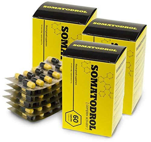 ✅SOMATODROL Premium, 3-pack, aumenta i livelli di testosterone e di ormone della crescita, rapida crescita muscolare, rapida combustione dei grassi, senza steroidi, senza effetti collaterali!