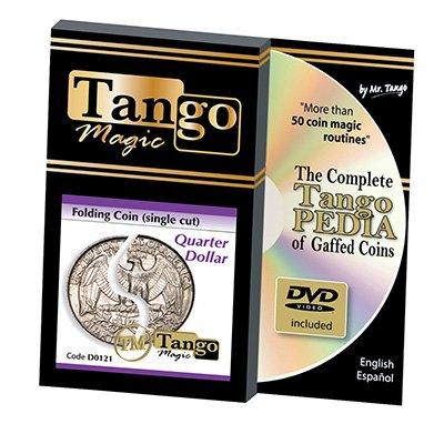 Folding Quarter dollar (Single cut w/DVD) (D0121) by Tango - Trick