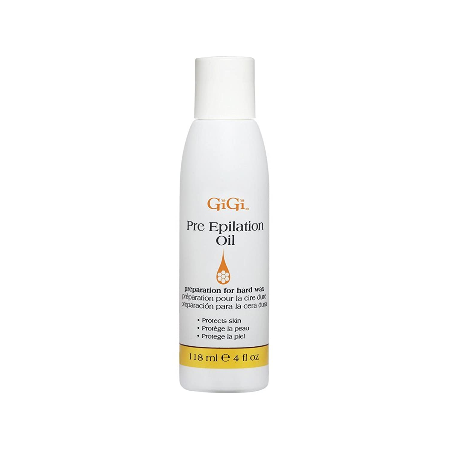 GiGi Pre Epilation Oil - Allows For Easier & More Effective Waxing While Protecting & Conditioning Skin - Preparation for Hard Wax - 118ml