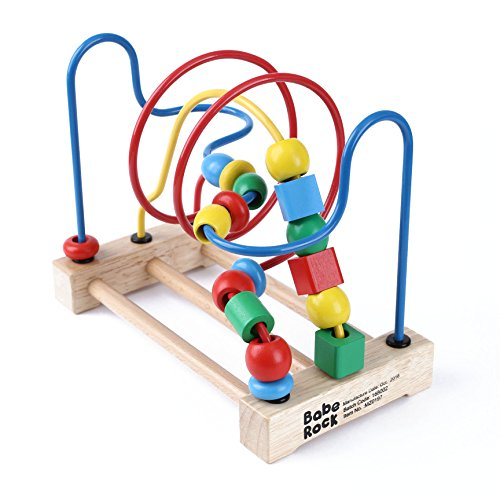 Bead Maze for Toddlers Educational Toys Roller Coaster Preschool Learning Classic Wooden Toy for 1 2 3 Years Old Baby Boys Girls Kids Gift