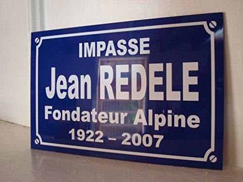 Noir & Mat Sérigraphie Jean REDELE Plaque de Rue création Collector Edition limitée Cadeau Original