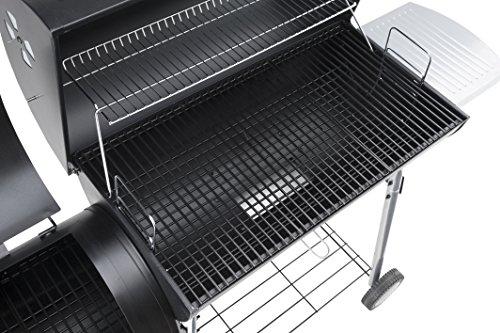LANDMANN Black Taurus 660+ 31426Smoker Charcoal BBQ Black Steel 141x 53x 125cm