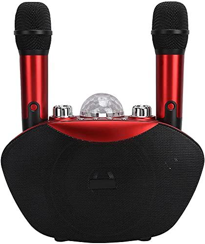 ポータブルBluetoothカラオケマイクファミリー KTV、メモリカード USB結婚式の友人パーティー会議のためのデュアルマイクと有線ホーム歌のカラオケ機械スピーカーシステム