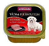 Animonda vom Feinsten Senior Nassfutter, für ältere Hunde ab 7 Jahren, mit Rind + Geflügel (22 x 150 g)