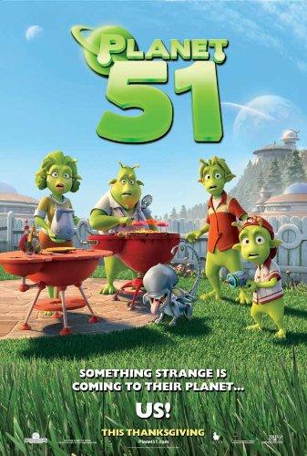 Planet 51 Poster Movie B 11x17 Dwayne Johnson Jessica Biel Justin Long Gary Oldman
