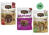 Rachael Ray Nutrish Dog Treats Variety Pack - Soup Bones Minis (1) Chicken & Veggies (1) Beef & Barley, 4.2 Oz Each (1) Meat Loaf Morsels Treats, 3 Oz - Plus Can Cover (4 Items Total)