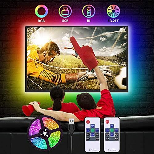 Led Strip Lights for TV Backlight,Led tv Backlight Color Changing Strip Lights for 60inch-65inch-70inch-75inch HDTV USB Power Bias Lighting RGB led Strips with 2 Remote for TV,Bedroom,Kitchen,Party
