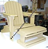ADIRONDACK CHAIR W/ FOOT REST Paper Plans SO EASY BEGINNERS LOOK LIKE EXPERTS Build Your Own Using This Step By Step DIY Patterns by WoodPatternExpert