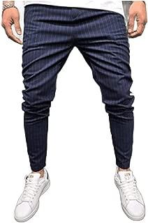 Mogogo Men's Summer Sport Long Pants Relaxed Classic Plaid Joggers Pants