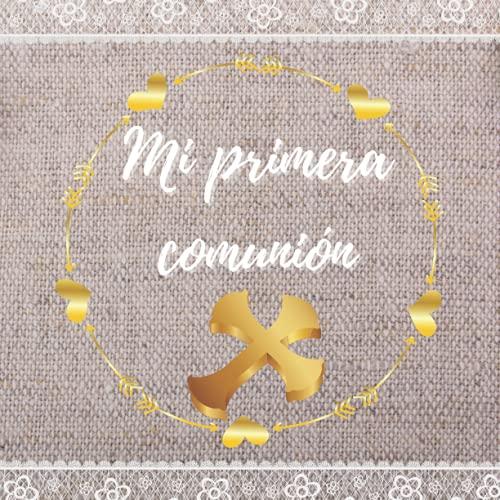 Libro de firmas y huellas mi primera comunion: Libro de recuerdos comunión con árbol de huellas personalizado - Regalo o detalle comunión niño o niña. Español