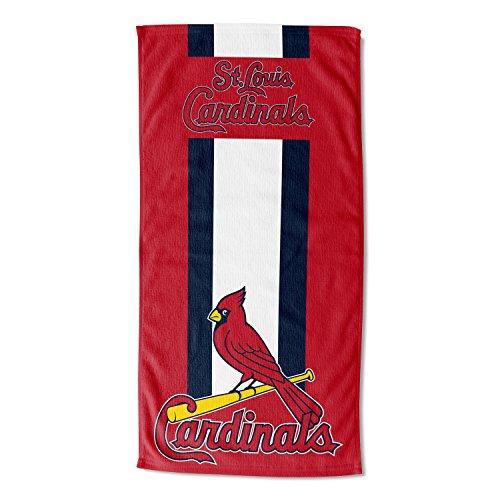 Telo mare con licenza ufficiale MLB Zone, assorbente, asciugamani, 76 x 60 cm, Rosso, 30