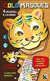 Colomasques animaux sauvages : Avec 4 masques à colorier, 4 crayons de couleur, 1 livre avec modèles, 1 planche de stickers scintillants
