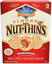 Blue Diamond Almond Nut-Thins Cracker Crisps, Smokehouse, 4.25 Ounce (Pack of 12)