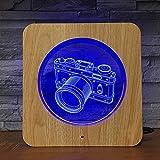 Solo 1 pieza Cámara foto 3D LED luz nocturna DIY lámpara lámpara de mesa niños color regalo decoración del hogar