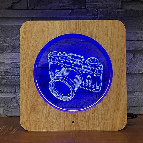 Cámara fotográfica de plástico lámpara de luz Nocturna lámpara de Mesa niños Color Regalo decoración del hogar