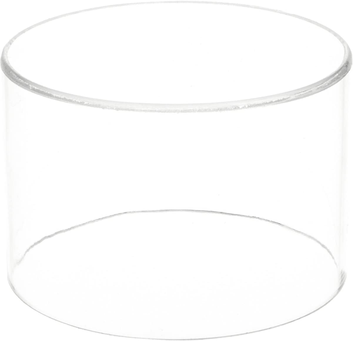 Plymor Clear Acrylic sale Round Cylinder Popular brand inches 4 Hei Display Riser