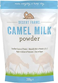Desert Farms Organic Whole Camel Milk Powder - Certified PALEO and KETO Grass Fed Non-GMO Easy to Mix Powder Milk - Excell...