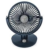 卓上扇風機 Dreamegg アロマ扇風機 自動首振り 10段階風量調節 静音 強風 USB充電 バッテリー内蔵 長時間連続使用 USB扇風機 USB 卓上 ファン コードレス オフィス 熱中症対策 暑さ対策 YX-22 (ネイビー)