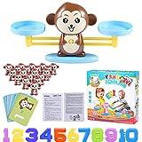 Funmo Juguete Animal Balanza, Monkey Balanza De Equilibrio, Balanza Digital De Mono, Niños Educación Temprana, Herramienta de Enseñanza para Niños Juego de Mesa Familiar