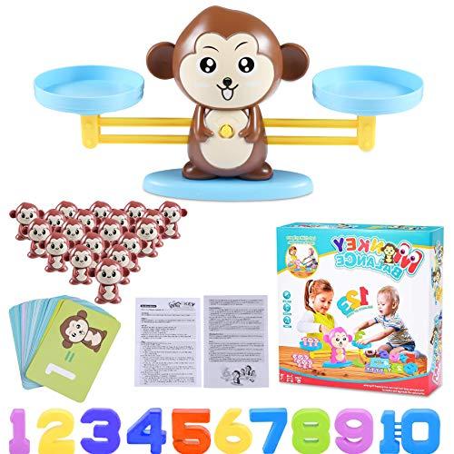 Funmo Juguete Animal Balanza, Monkey Balanza De Equilibrio, Balanza Digital De Mono,...