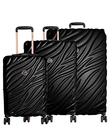 For Sale! Delsey Alexis Lightweight Luggage Set 3 Piece, Double Wheel Hardshell Suitcases, Expandabl...