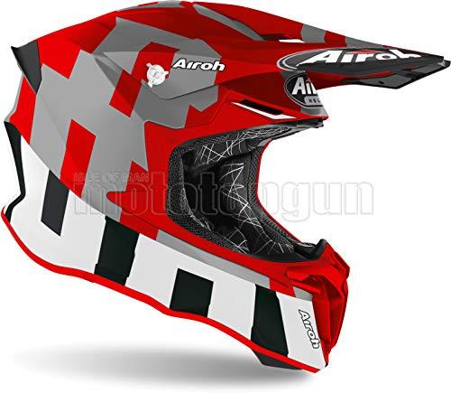 Airoh TW2F55 Motorradhelm, Mattrot, Twist 2.0 Frame, Größe L