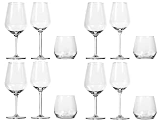 Royal Leerdam Gjende Wine and Drinkware Glass Set, 12 Pieces - Clear