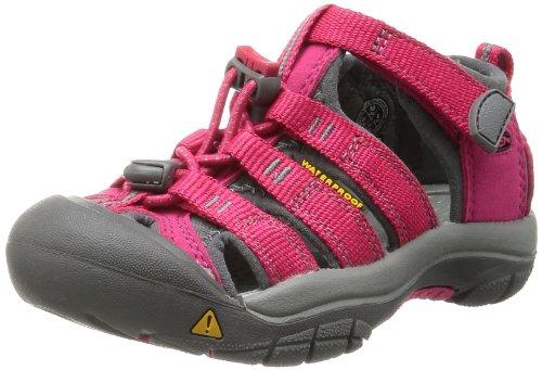 Keen NEWPORT H2 C, Mädchen Geschlossene Sandalen - Pink (ROSE RED/GARGOYLE), 25.5 EU (8 Kinder UK)