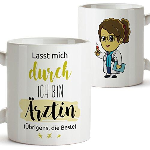 Mugffins Kaffeetasse als Geschenk für Ärztinnen - Die Beste Ärztin der Welt - 350 ml - Schöne und lustige Tassen mit Sprüchen, zu verschenken …