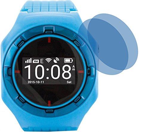 4ProTec I 2X Crystal Clear klar Schutzfolie für 2er_hellOO_Smartwatch.jpgPremium Displayschutzfolie Bildschirmschutzfolie Schutzhülle Displayschutz Displayfolie Folie