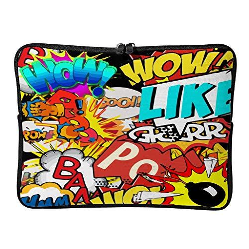 Borse per computer portatile, motivo fumetti divertenti, leggere – Custodia per tablet adatta per pendolari, bianco (Bianco) - XJJ88-LB35