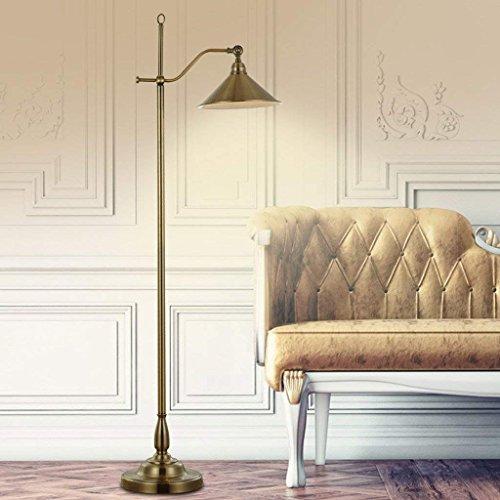 DSJ American Rural Retro Fashion Creatieve vloerlamp Intelligente lamp slaapkamer de vloer imitatie koper